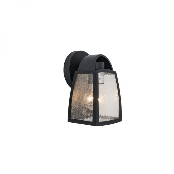 Lutec Kelsey Wall Light Black E27 IP44