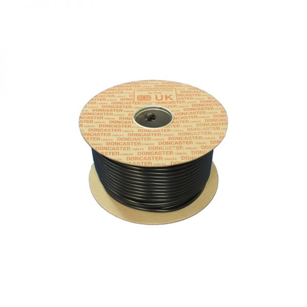 Doncaster Cables H05VV-F Cable 3182Y0.75B100 Black 0.75mm 2 Core 100 Metres