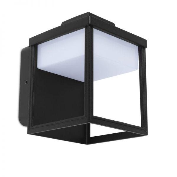 Lutec Zoe Wall Light Black Integrated LED IP54