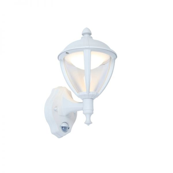Lutec Unite Pir Wall Light White Integrated LED IP44