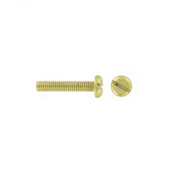 Brass Pan Head Slotted Screw M4x10 (Pack 100)