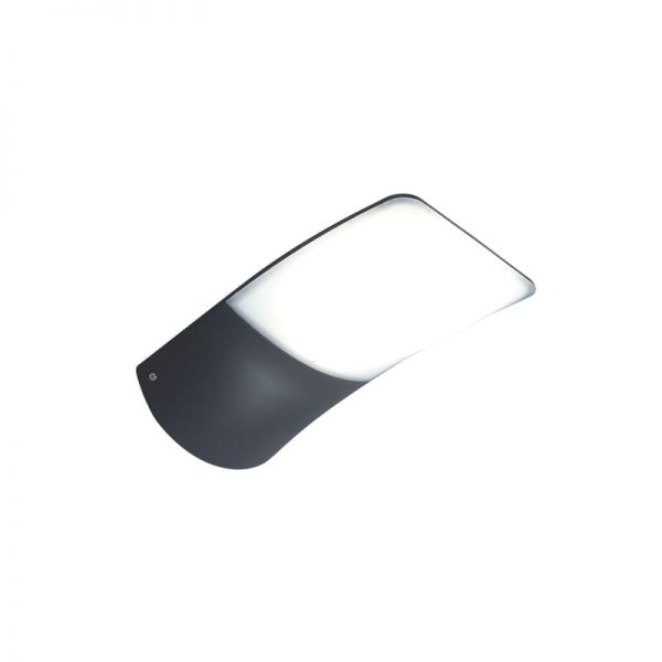 Lutec Zerta Wall Light Dark Grey Integrated LED IP44