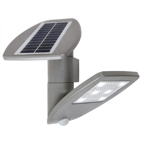 Lutec Zeta (Solar) Solar Light Silver Integrated LED IP44