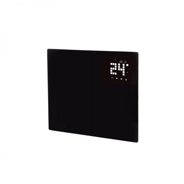 Hyco Ariano Black Glass Panel Heater With 24/7 Timer