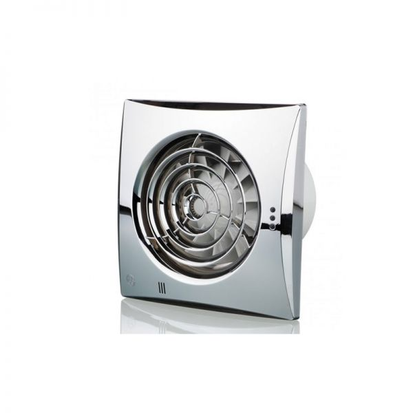 "Blauberg 4""/100mm Calm Extractor Chrome Fan Timer"