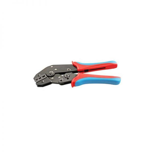 Ratchet Crimp Tool For Pre-Insulated Crimps (Red/Blue/Yellow)