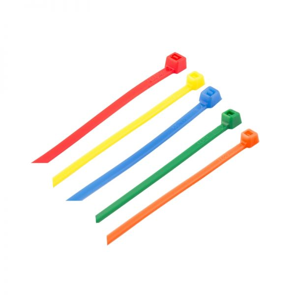 SWA Standard 5 Colour Nylon Cable Ties (100 Per Pack)
