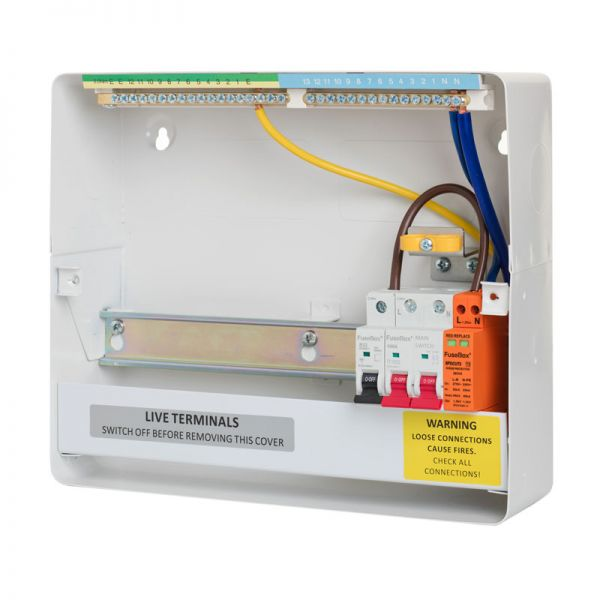 fusebox metal t2 surge protection consumer units | expertelectrical.co.uk  expert electrical