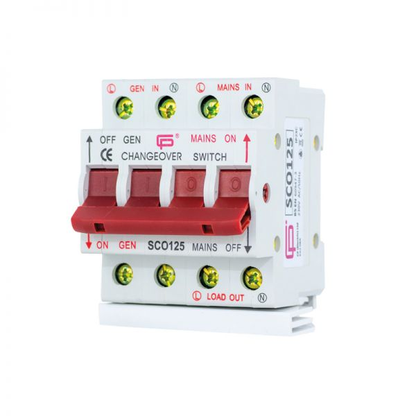 Fusebox 125A Changeover Switch Din Rail Mounting