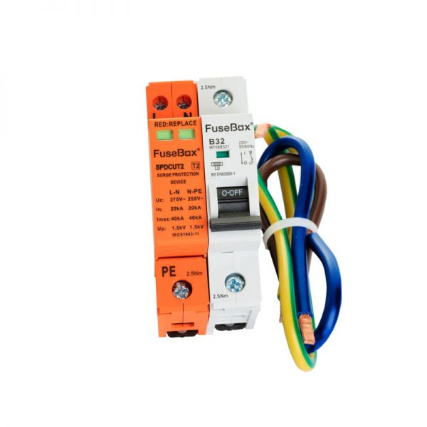 FuseBox T2 Surge Protection Device SP with MCB