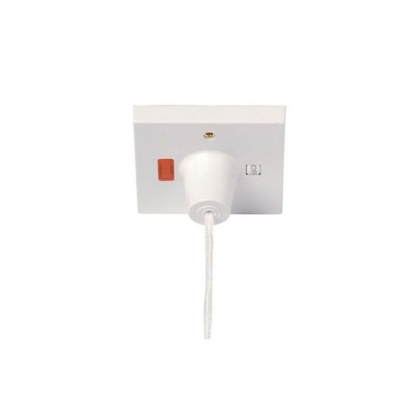Click Scolmore 45A Pull Cord Switch Double Pole
