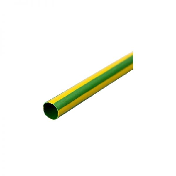 SWA 1M Heat Shrink 25mm Tube Yellow/Green (Pack of 10)