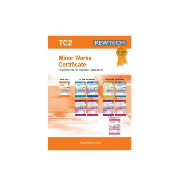 Kewtech TC2 40pgs Installation Minor Works Certificate