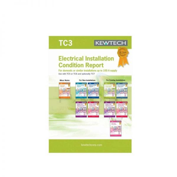 Kewtech TC3 40pgs Electrical Installation Condition Report