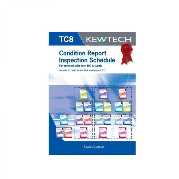 Kewtech TC8 Condition Report Inspection Schedule Over 100A