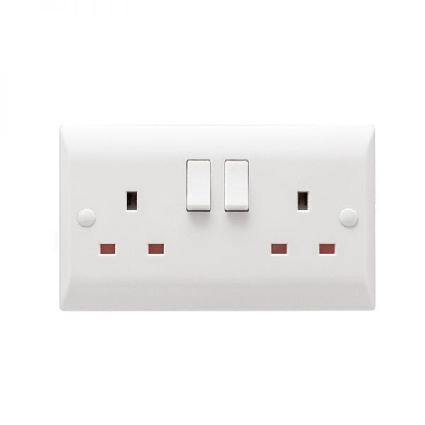 Hamilton Vogue 2G 13A DP Switched Socket